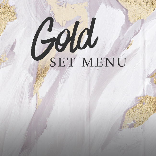 Gold set menu at The Willett Arms