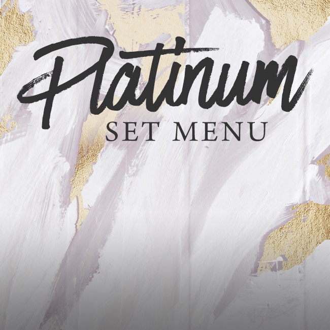 Platinum set menu at The Willett Arms