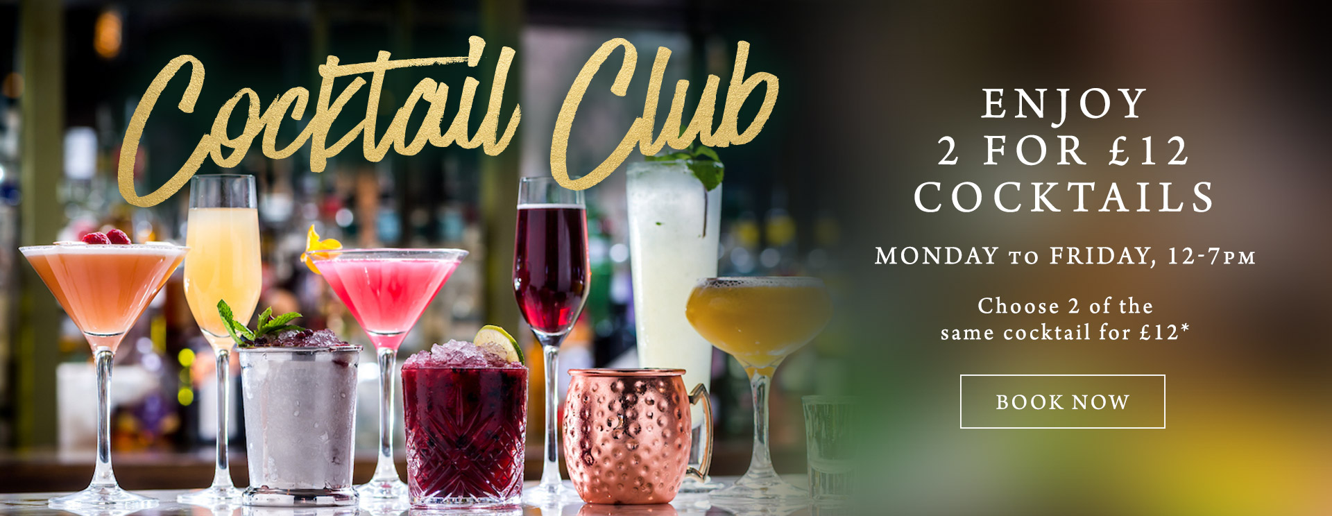 2 for £12 cocktails at The Willett Arms